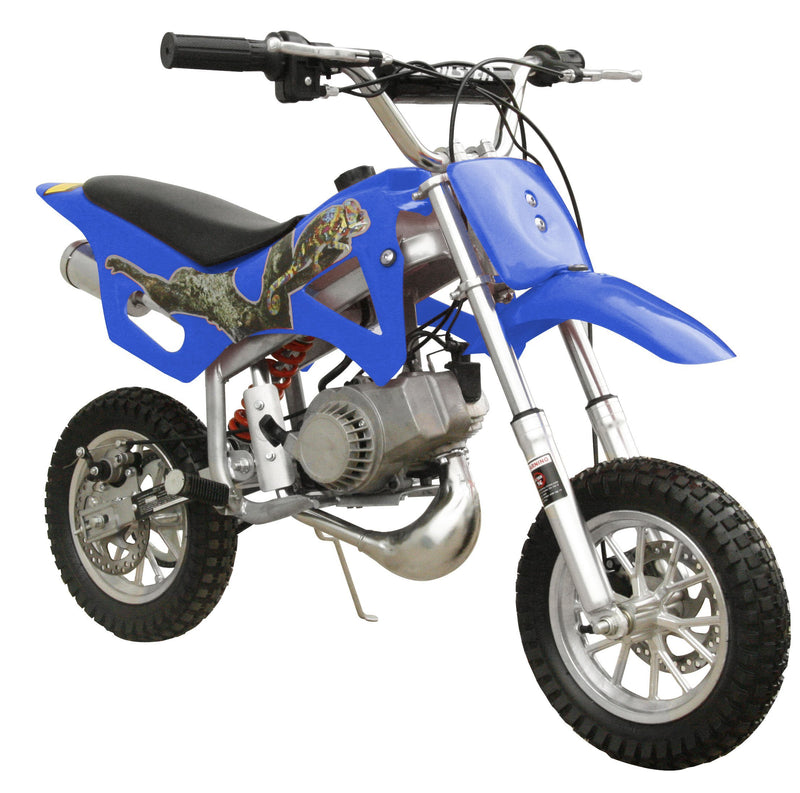49cc 50cc 2-Stroke Gas Motorized Mini Dirt Pit Bike - blue front