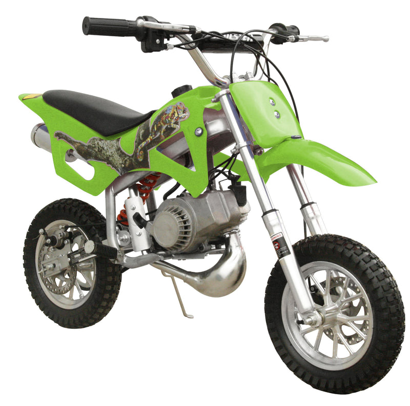49cc 50cc 2-Stroke Gas Motorized Mini Dirt Pit Bike - green front