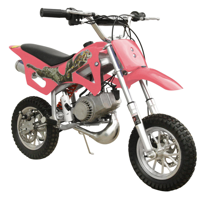 49cc 50cc 2-Stroke Gas Motorized Mini Dirt Pit Bike - pink front