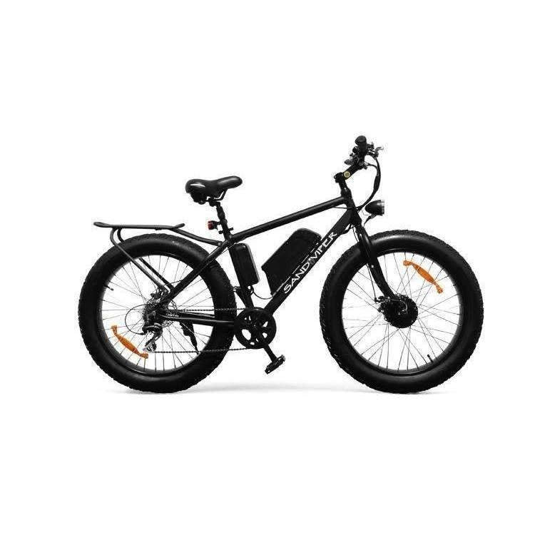 SSR Motorsports 350W & 500W Sand Viper Fat Tire Mountain black bicycle side