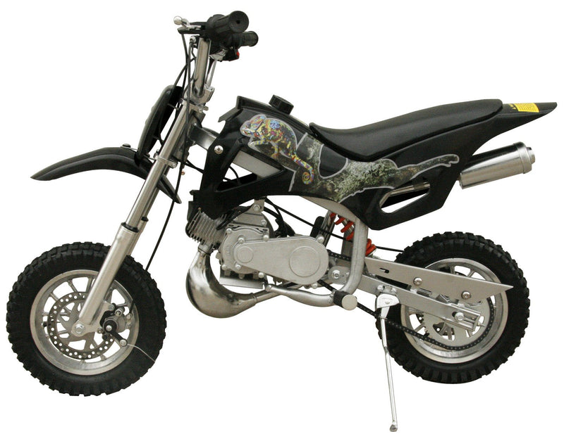 49cc 50cc 2-Stroke Gas Motorized Mini Dirt Pit Bike - black side