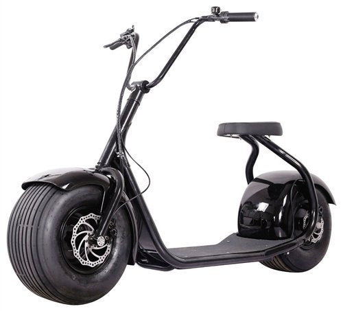 SSR Motorsports 800W SEEV-800 Fat Tire Electric Scooter - black scooter front