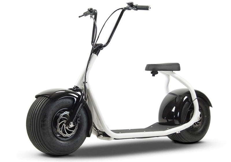 SSR Motorsports 800W SEEV-800 Fat Tire Electric Scooter - white scooter front