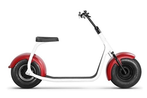 SSR Motorsports 800W SEEV-800 Fat Tire Electric Scooter - red fender scooter side