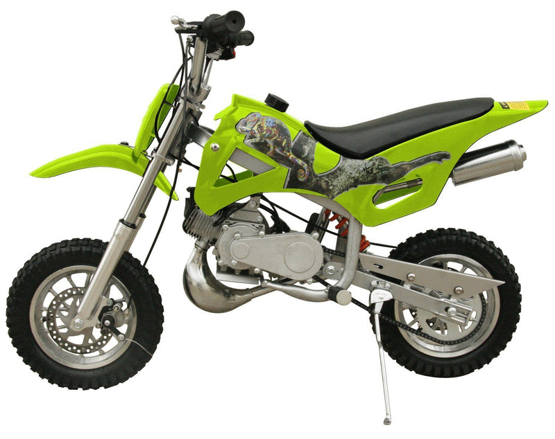 49cc 50cc 2-Stroke Gas Motorized Mini Dirt Pit Bike - green side