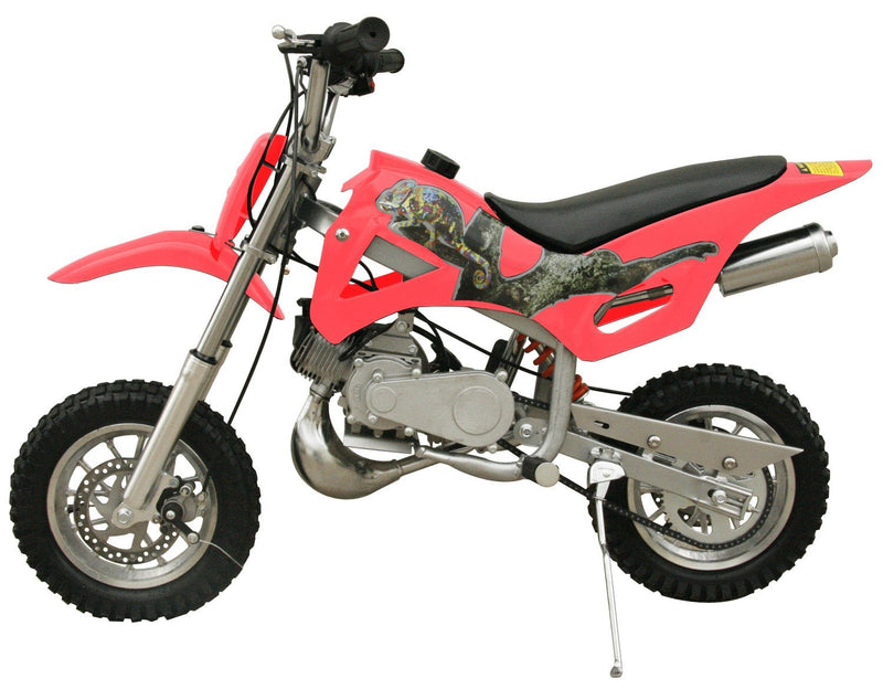 49cc 50cc 2-Stroke Gas Motorized Mini Dirt Pit Bike - pink side
