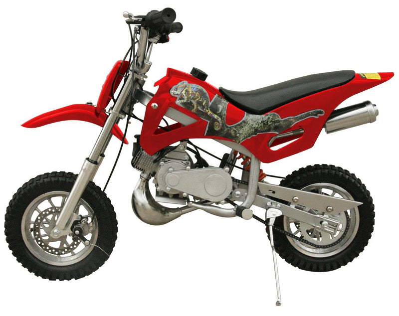 49cc 50cc 2-Stroke Gas Motorized Mini Dirt Pit Bike - red side