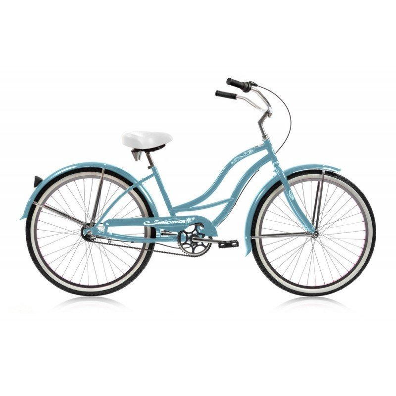 "24"" Micargi Women's Tahiti NX3 baby blue - side of bicycle"