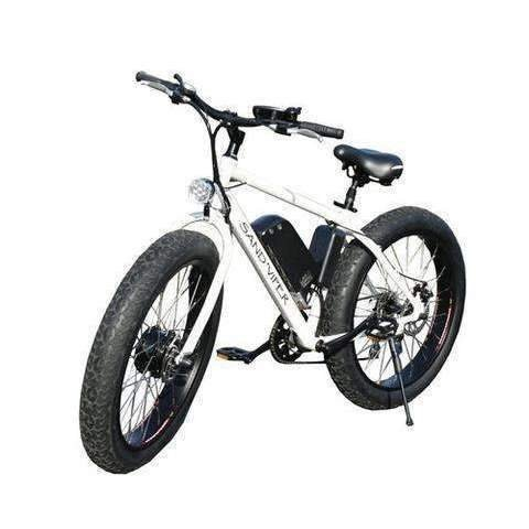 SSR Motorsports 350W & 500W Sand Viper Fat Tire Mountain white bicycle front