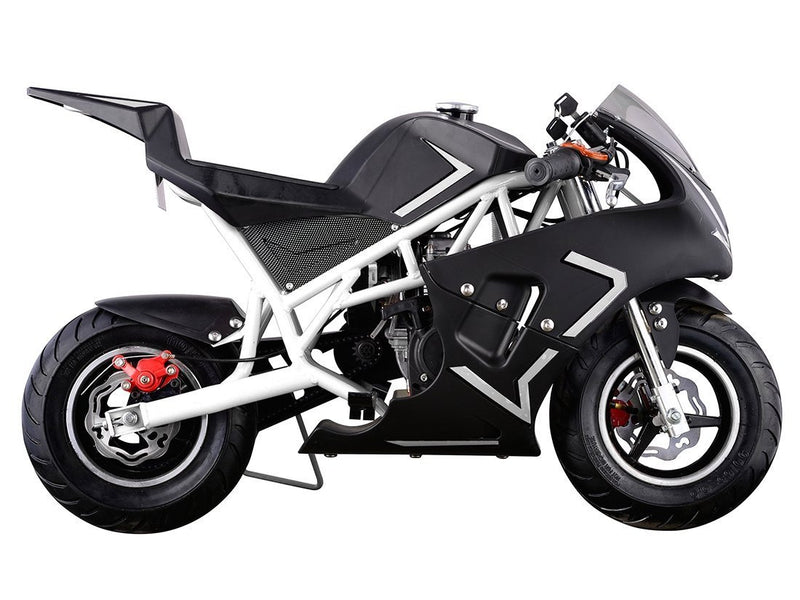 40cc 4 Stroke Gas Powered Mini Superbike - black side