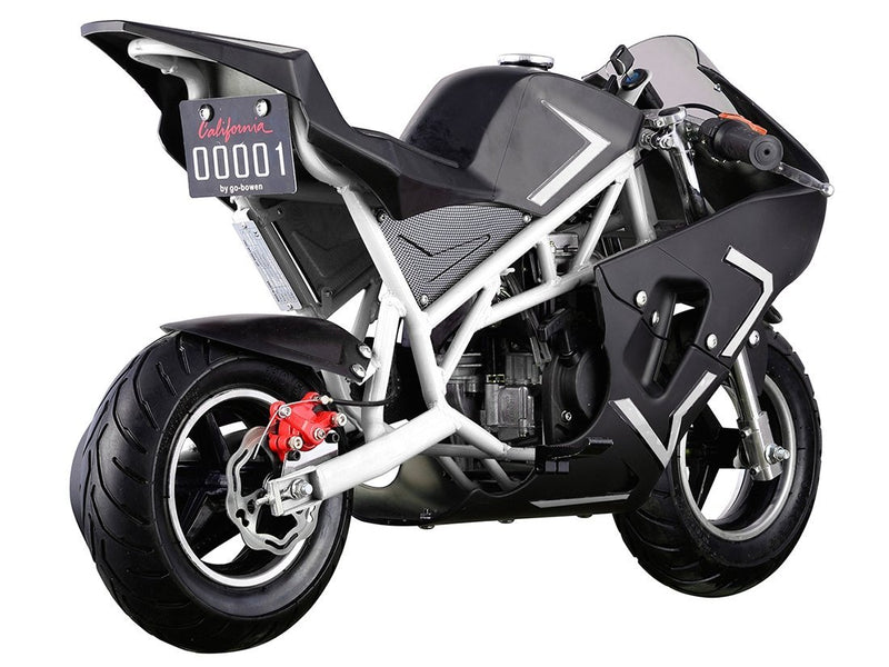 40cc 4 Stroke Gas Powered Mini Superbike - black rear