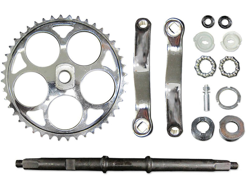 Wide Crank Assembly w/ Extended Bottom Bracket Assembly - top