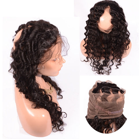 360 Deep Wave Full Lace Frontal