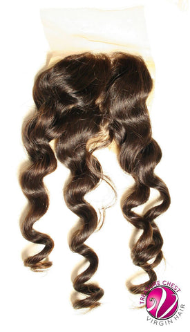 Hair - Silk Base Closure - Beach Wave