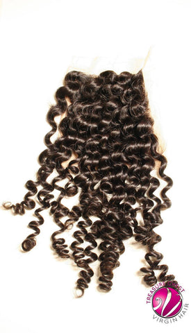 Hair - Silk Base Closure - Bohemian Curl