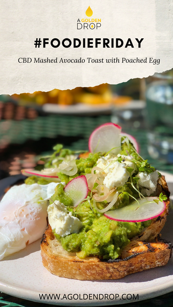 #FoodieFriday: CBD Mashed Avocado Toast with Poached Egg