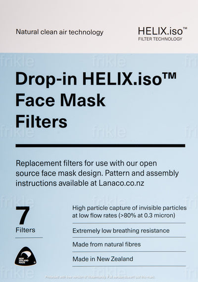 HELIXiso™ face mask replacement filter specifications