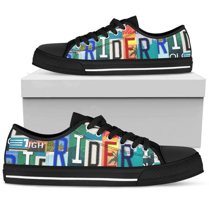 Rider License Plate Low Top Shoes