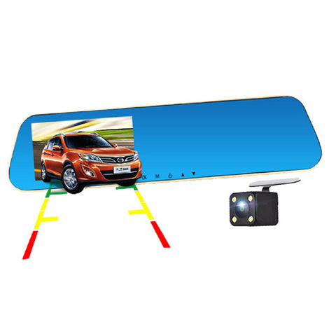 E X10 rear view mirror double lens Hd 1080p night vision back view parking monitoring vehicle recorder