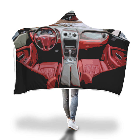 Car Red Interior Hooded Blanket