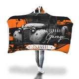 Rusty Retro Car Hooded Blanket