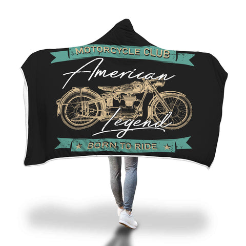 Motorcycle Club Hooded Blanket