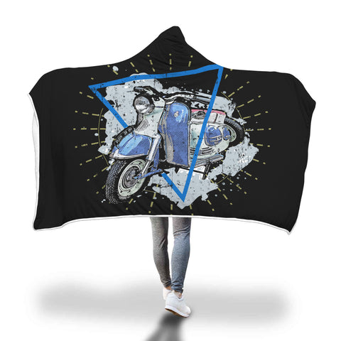 Scooter Ride Hooded Blanket