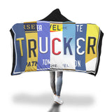Trucker Licensed Plate Hooded Banket