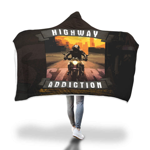 Highway Addiction Hooded Blanket