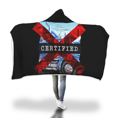 Certified Trucker Hooded Blanket