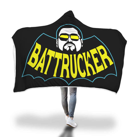 Bat Trucker Hooded Blanket