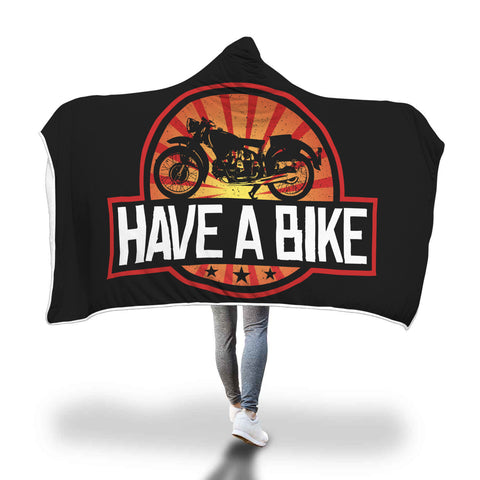 Have A Bike Hooded Blanket