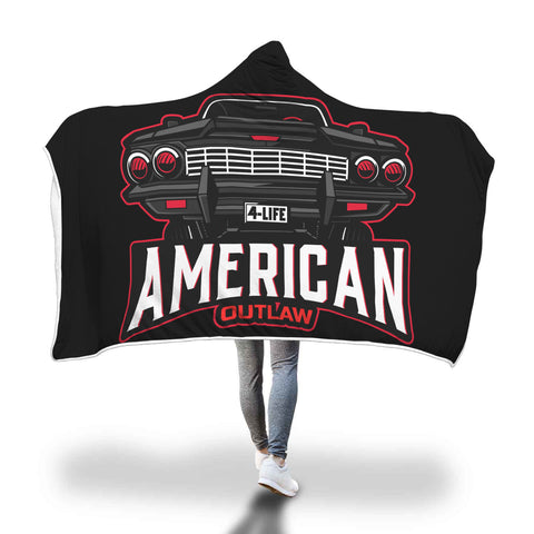 American Outlaw Hooded Blanket