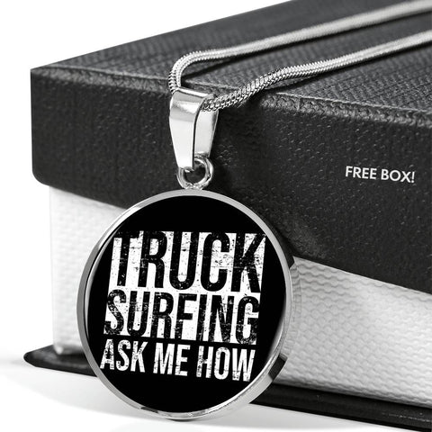 Truck Surfing Personalized Gift Necklace Jewelry