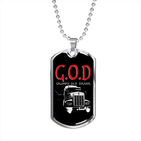 Grumpy Old Driver Personalized Gift Necklace Jewelry
