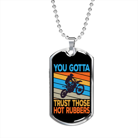 Bikers Trust Hot Rubbers Personalized Gift Necklace Jewelry