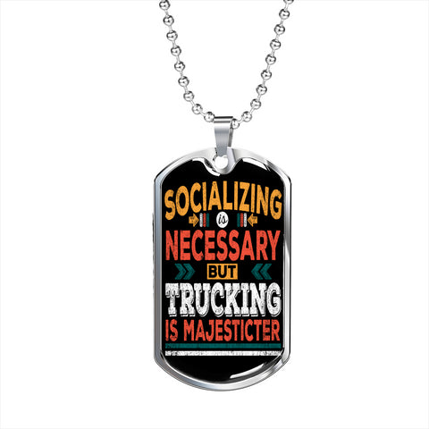 Trucking is Majecticter Personalized Gift Necklace Jewelry