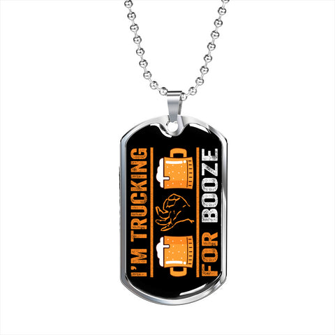 Trucking For Booze Personalized Gift Necklace Jewelry