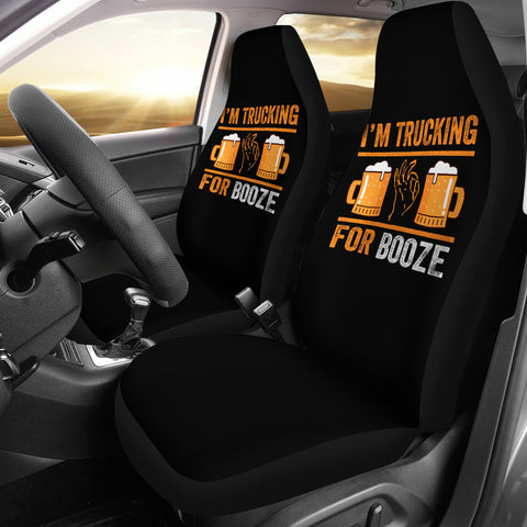 Trucking For Booze Seat Covers