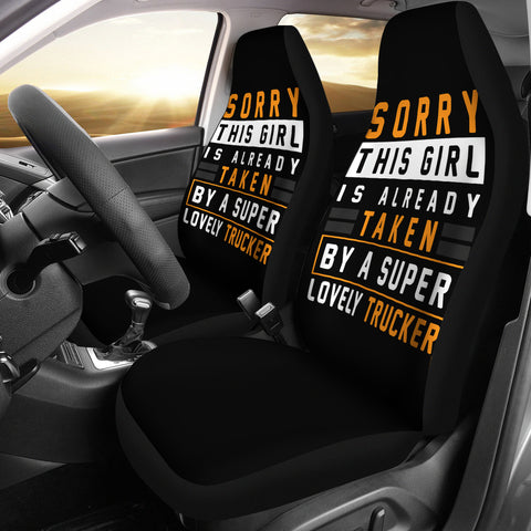 Trucker Girl Car Seat Covers