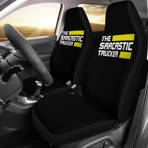 Sarcastic Trucker Car Seat Covers