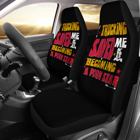Trucking Saved Me Car Seat Covers