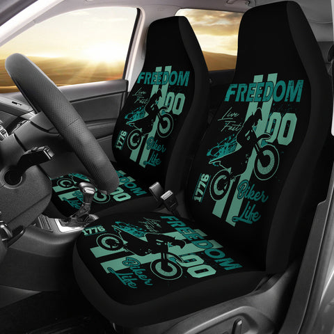 Biker Life Freedom Car Seat Covers