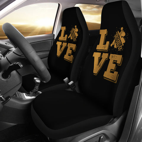Love Tire Marks Car Seat Covers