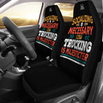 Trucking Is Majesticter Car Seat Cover