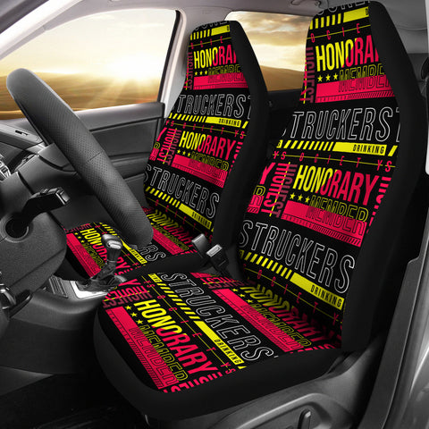 Truckers Drinking Society Car Seat Covers