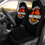 Cool Bearded Daddy Trucker Car Seat Covers