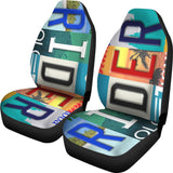 Rider License Plate Car Seat Covers