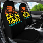 Keep Calm and Sit Tight Trucker Quote Car Seat Covers