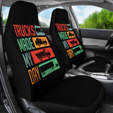 Trucks Made My Day Seat Covers